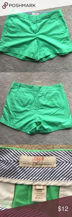 JCrew Shorts JCrew Chino Shorts Green-Wore Once J. Crew Shorts