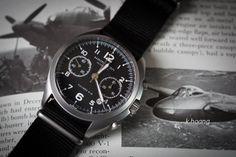 Hamilton Pioneer Pilot Automatic Chronograph with Black Nato Strap