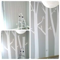 Proceso pintar árboles