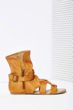 Wanderlust Leather Sandal Bootie