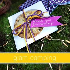 Glam Camping Party Ideas