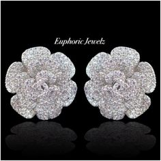 Sterling Florals, with a pave crystal design for a brilliant sparkle. DETAILS & CARE ▫️Post back closure. ▫️Pave Swarovski Zirconia crystals. ▫️Sterling Silver. ▫️14k Gold Filled. ▫️Handcrafted exclusively by Euphoric Jewelz. ▫️Designed and made in the USA of imported materials.  | Shop this product here: http://spreesy.com/EuphoricJewelz/12 | Shop all of our products at http://spreesy.com/EuphoricJewelz  | Pinterest selling powered by Spreesy.com