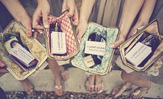 Personalized Bridesmaid Clutch with Survival Kit -Cute for my bridesmaids & packet sized schedule