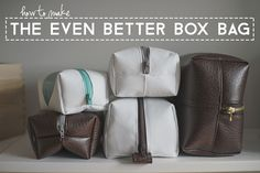 67 Ideas For Sewing Kit Box Toiletry Bag Diy Sewing Projects, Sewing Projects For Beginners, Sewing Tutorials, Toiletry Bag, Tote Purse, Purses And Bags, Sewing Kit, Box Bag, Dopp Kit