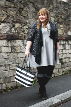 kathastrophal - Plus Size Outfit in grey, black and white