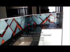 Mutfak tezgah arası resimli 3d cam panel - Modeller - Üretim montaj - Fu...