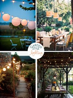 Garden Style Lighting. I'm doing this!! So romantic.