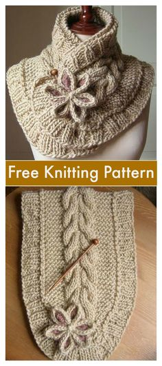 DIY A Beautiful Knit Scarf with Free Pattern - Kapuzenschal Stricken Vogue Knitting, Knitting Blogs, Knitting Stitches, Free Knitting, Knitting Machine Patterns, Crochet Patterns, Scarf Patterns, Crochet Ideas, Diy Scarf