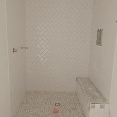 simple and timeless bathroom design in shower