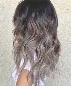 Ashy Blonde Balayage, Hair Color Balayage, Ombre Hair, Blonde Ombre, Ash Brown Bayalage, Ash Blonde, Dark Ombre, Short Ombre, Ash Brown Hair
