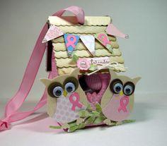 Stampin' Up!  Milk Carton Birdhouse  Kris Kilkenny  Pink Owls