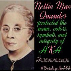 Nellie Quander did that. #followprettypearlsinc AKA 1908