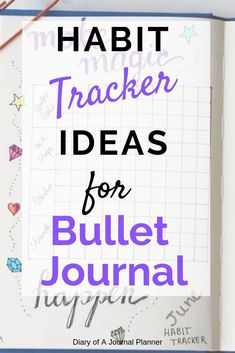 How to use habit trackers for bullet journal. A list of ideas for bullet journal trackers. Bullet Journal For Beginners, Bullet Journal How To Start A, Bullet Journal Spread, Bullet Journal Layout, Bullet Journal Inspiration, Journal Ideas, Journal Prompts, Bullet Journals, Best Weekly Planner