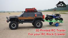 3D Printed RC Trailer with stowable ramps for RC Crawlers