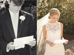 wrote love letters for each other to receive before the ceremony. doing this.