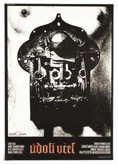 Film poster Valley of the Bees, Poster design Jiří Svoboda, 1968. #MoviePoster #Poster #GraphicDesign