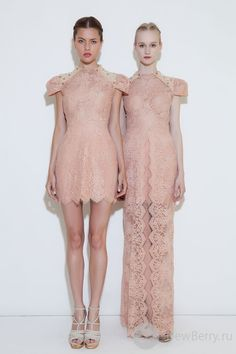 The designs are pretty, but the models remind me of the twins from The Shining.     Lookbook Patricia Bonaldi Haute Couture 2013
