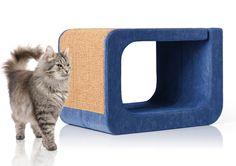 Letter O of the Alphabet collection. Scratchpad, resting area, hideaway. Fabric developed for cats - highly resistant to scratching.