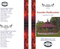 Norval Community Association - event brochure