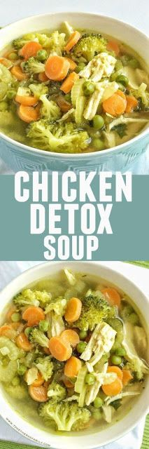 healthy and delicious chicken detox soup is a great way to eat healthy. It's low-calorie and low-fat!This healthy and delicious chicken detox soup is a great way to eat healthy. It's low-calorie and low-fat! Healthy Soup Recipes, Detox Recipes, Yummy Recipes, Cooking Recipes, Low Fat Vegan Recipes, Low Fat Chicken Recipes, Simple Recipes, Ways To Eat Healthy, Healthy Detox