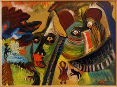 Eine Malerei des italienischen Art-Brut-Malers Ugo Mainetti, *1945, der ursprünglich Metzger war. Metzger, Art Brut, Painting, Paintings, Italy, Painting Art, Pictures, Painted Canvas, Drawings