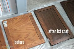 How to Gel Stain Cabinets - The Good, The Bad and The Truth - Cleverly Simple®