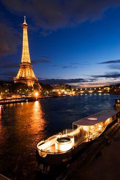 A cruise on the Seine, Paris, France