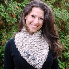Check out Petals to Pictors Quick and Comfy Crochet Scarf made with Wool-Ease Thick & Quick! #scarfie #crochet #pattern @lionbrandyarn