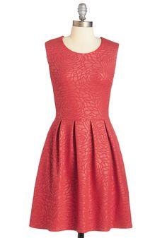 Peony Print Dress
