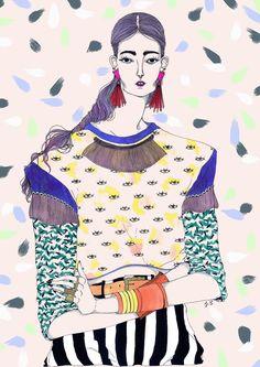 Wonderful fashion illustrations with crazy patterns by jeremy combot ideas fashion illustration collage photographs Fashion Illustration Sketches, Woman Illustration, Fashion Sketchbook, Fashion Sketches, French Illustration, Fashion Drawings, Silhouette Mode, Collage, Arte Pop