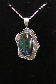 Sterling Silver Ammolite Pendant P55 by VeroniqueofSantaCruz
