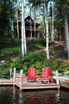 I like the idea of the house being on a hill so you can look over the lake. Ja meidän mökkihän on siellä mäen päällä....