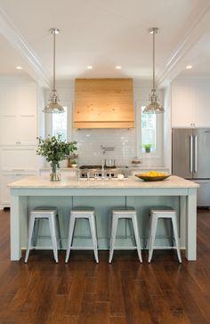 White kitchen with r