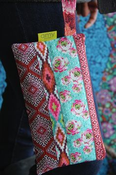 Cute wristlet with ribbons | Amy Butler