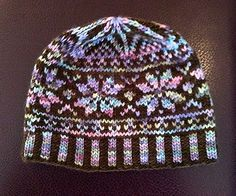 Faux Fair Isle Hat by Chiaki Hayashi. malabrigo Worsted in Coco and Kaleidos colorway
