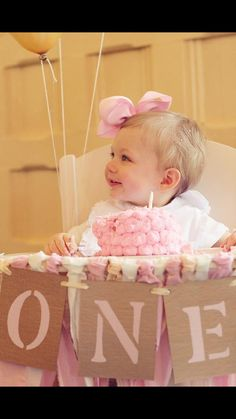 Baby's First Birthday/ High Chair Banner/ One Banner/ Birthday Banner/ Baby Girl Banner/ I am One/ 1st Birthday/ First Birthday Photo Prop on Etsy, $10.00