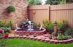 a basic step for yard fountain, ponds water features