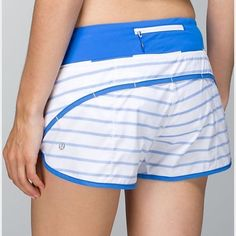 RARE Lululemon Speed Short Speed short in the rare Deauville blue stripe. This sold out instantly in stores! Worn only a few times as it's too small for me. lululemon athletica Shorts