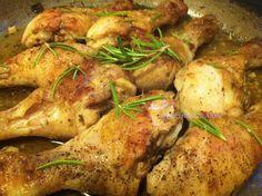 Coscette di pollo alla Vodka - Chicken thighs Vodka