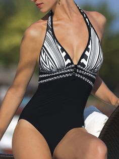 Sunflair 2012: Mozambique One Piece Bathing Suit Halter One Piece 22183 | Swimwear Boutique