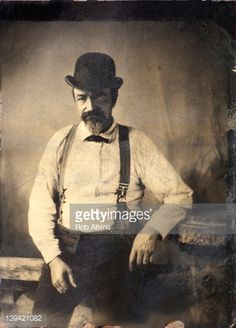 Tintype Photograph Of Man Circa 1915 Stock Photo | Getty Images