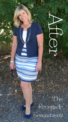 DIY Pencil Skirt Refashion | The Renegade Seamstress