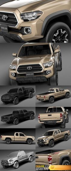 Toyota Tacoma TRD Off-Road 2016 http://www.desirefx.me/toyota-tacoma-trd-off-road-2016-3d-model/