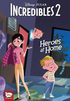Disney·PIXAR The Incredibles Heroes at Home (Younger Readers Graphic Novel) by Liz Marsham - Dark Horse Books Disney And Dreamworks, Disney Pixar, Disney Puns, Disney Crossovers, Disney Art, The Incredibles 1, Violet Parr, Cartoon As Anime, Horse Books