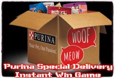Purina Special Delivery Instant Win Game WIN $25 Cat Prize packages, or one of the 950 Dog Prize packages ENTER DAILY-ENDS 8/12