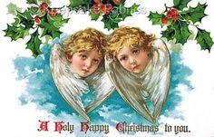 Angels-Christmas-Holly-Quilt-Block-Multi-Sizes-FrEE-ShiPPinG-WoRld-WiDE