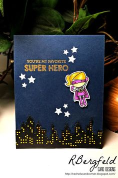Rachel's Card Corner: I'm On a Roll! - Mama Elephant, Tiny Heroes, Cityscape, Wish Big
