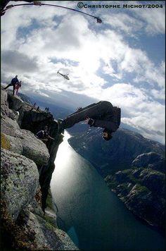 Base Jumping...!!!