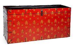 Black & Red Chinese Trunk on OneKingsLane.com