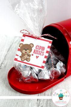 Cupid Valentine Kisses Tag DIY Printable by StacysSweetStuff